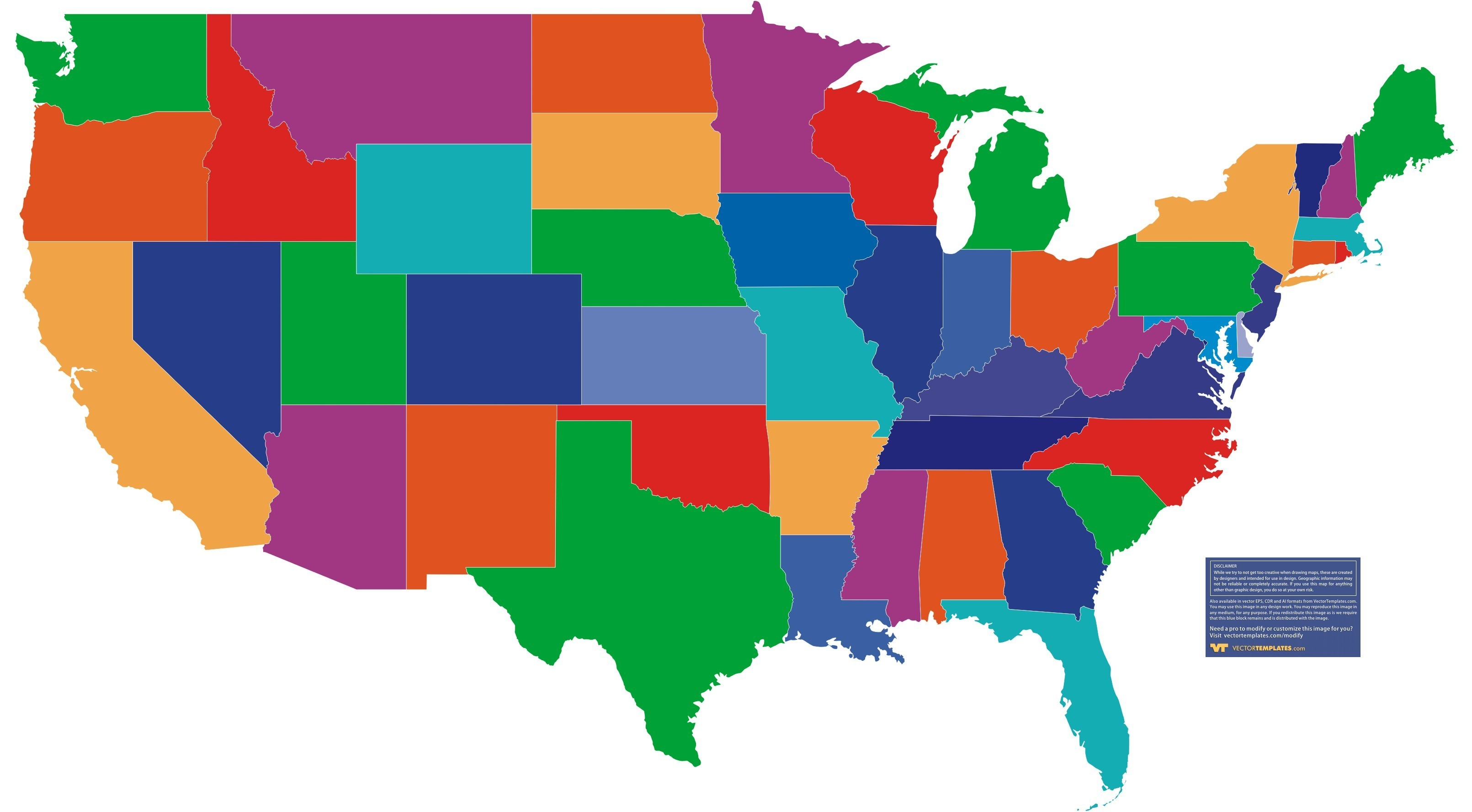 3221x1777 Us Map Vector Free Download Usa Clipart Region 7 Save Green