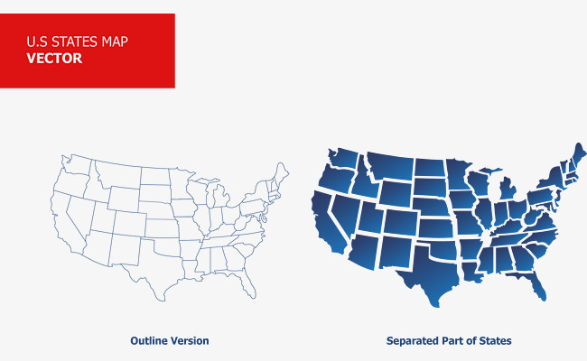 650x400 Vector Usa Map Illustration, United States Map, Map, Vector Png