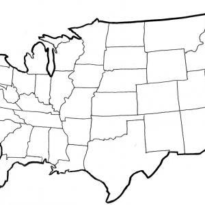 300x300 Photostock Vector Black Usa Map Vector Illustration Simple Flat