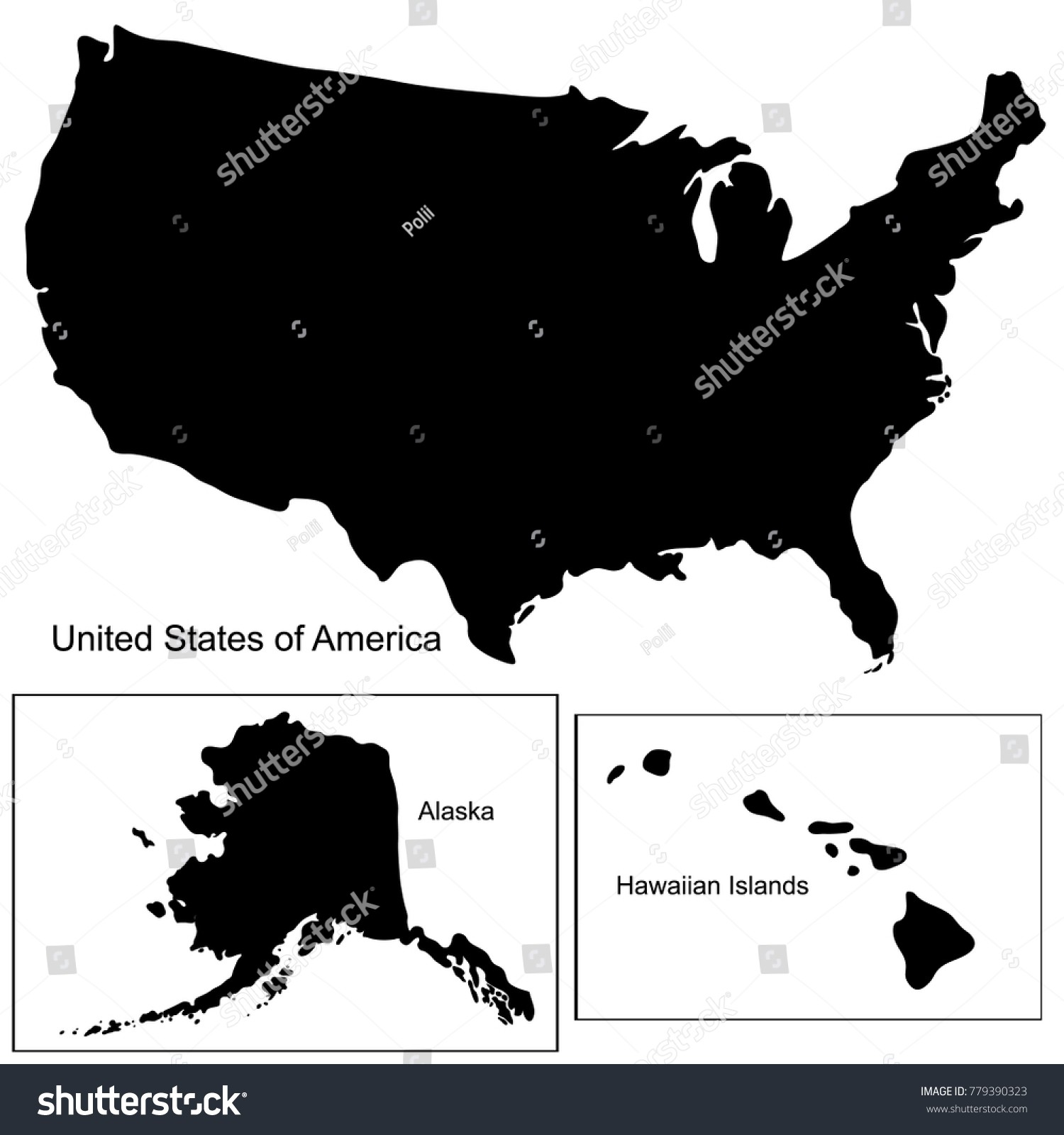 1500x1600 Us Map Black And White Vector Geography Outline Map States