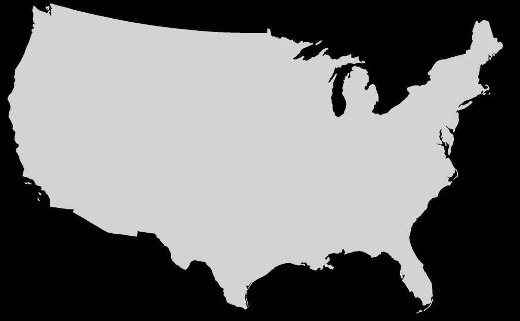 1024x633 Us Map Vector Outline Free Us Map Silhouette Vector