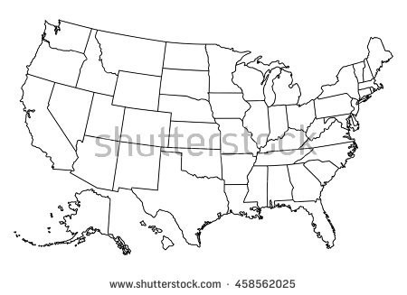 450x327 Us Map Vector Outline United States Map Vector Download Free