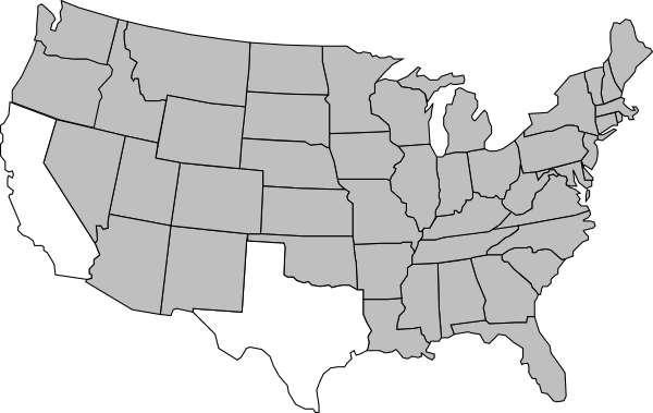 600x379 Us Map Vector Simple Decoration Simplified Map Of Us States Us Map