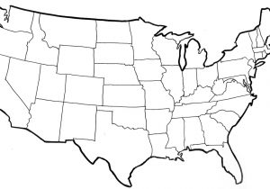 300x210 Blank Physical Maps Of The Us North America Political Outline Map