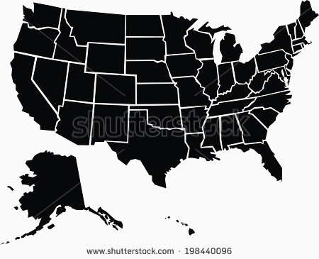 450x365 Usa Map Vector Elegant State Outlines Vector Download Free Vector