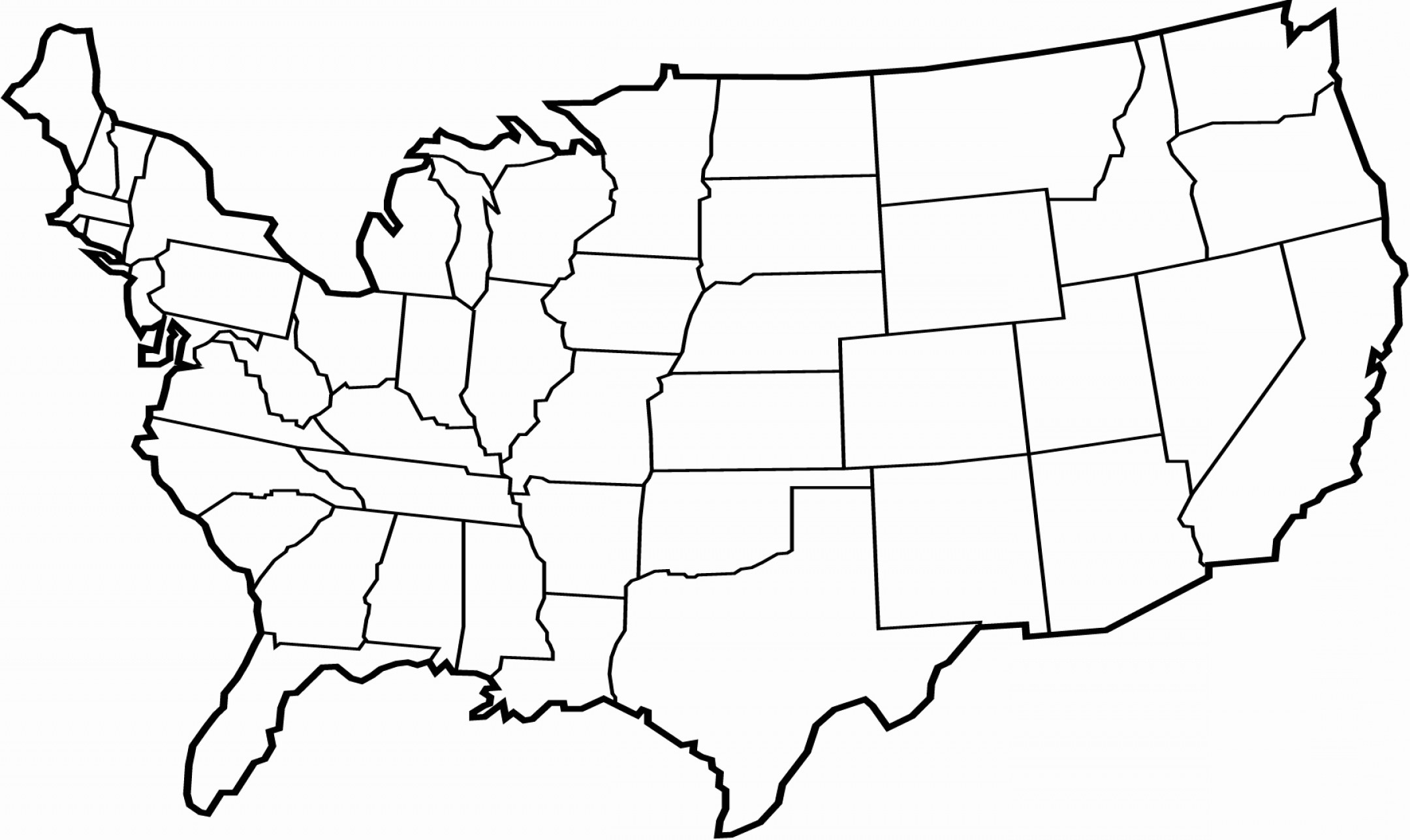 2160x1287 Usa Map Vector Outline Fresh Blank Usa Map Vector Blank Usa Map
