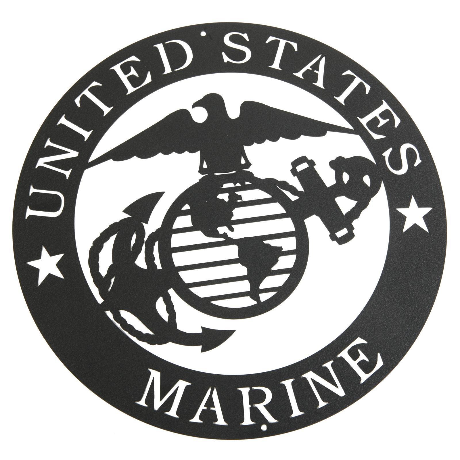 1600x1600 Marines Corps Emblem Metal Silhouette 3025