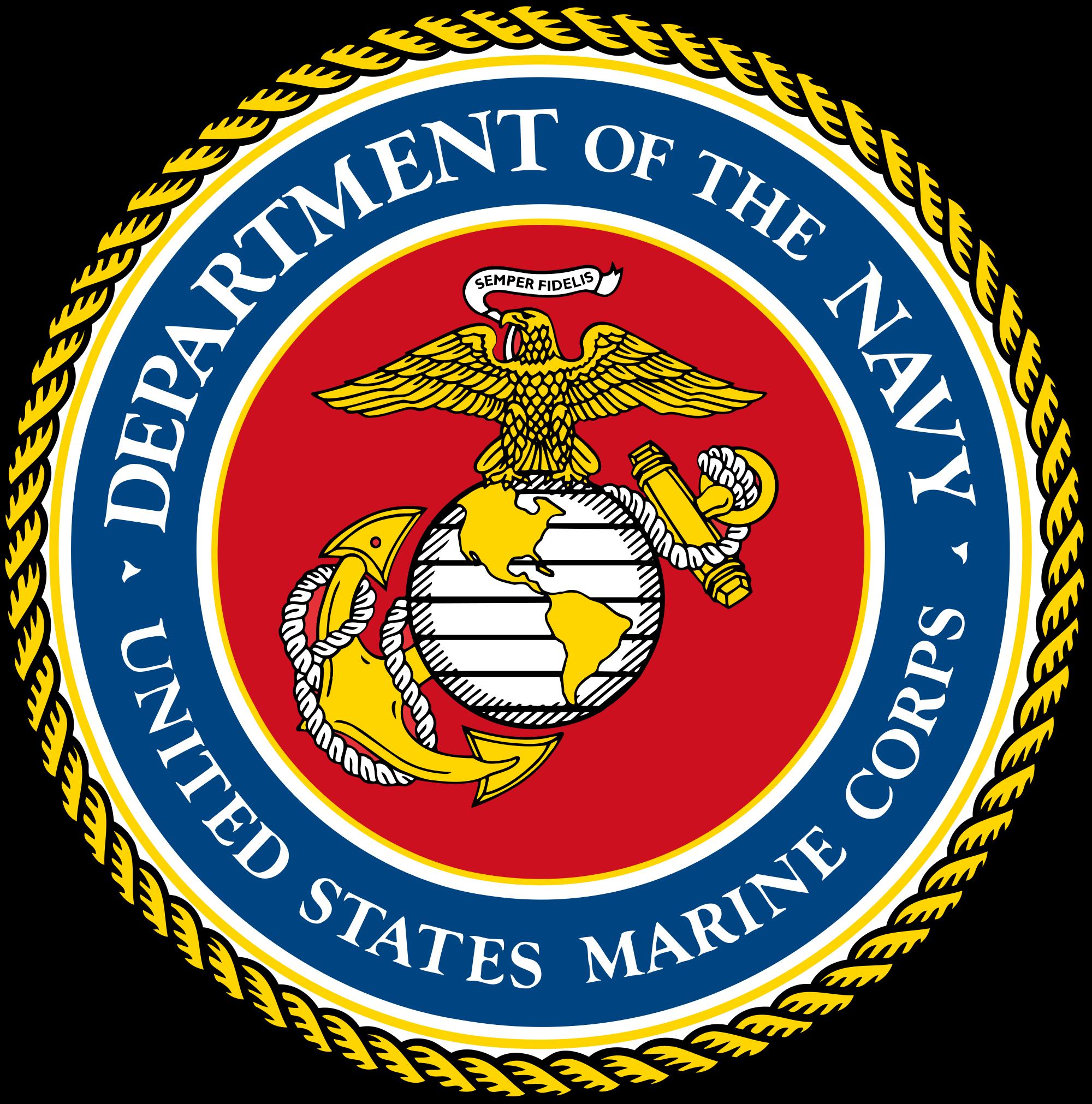 Us Marines Logo Vector At Getdrawings Com Free For