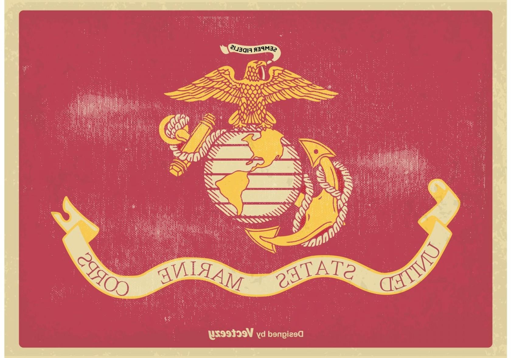 1680x1176 Us Marine Corps Flag Vector Illustration Arenawp