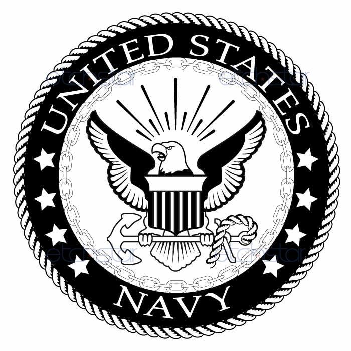 700x700 Us Navy Back Patch Black Amp White For Vest Jacket 10 Inch Marine