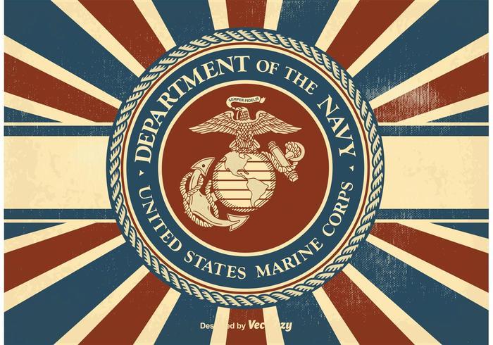 700x490 Vintage Us Marine Corps Illustration