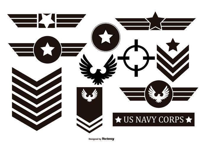 686x490 Millitary Vector Emblems Collection