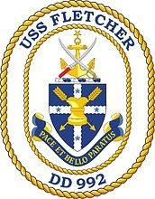 172x220 U.s. Navy Uss Fletcher (Dd 992), Destroyer Emblem (Crest