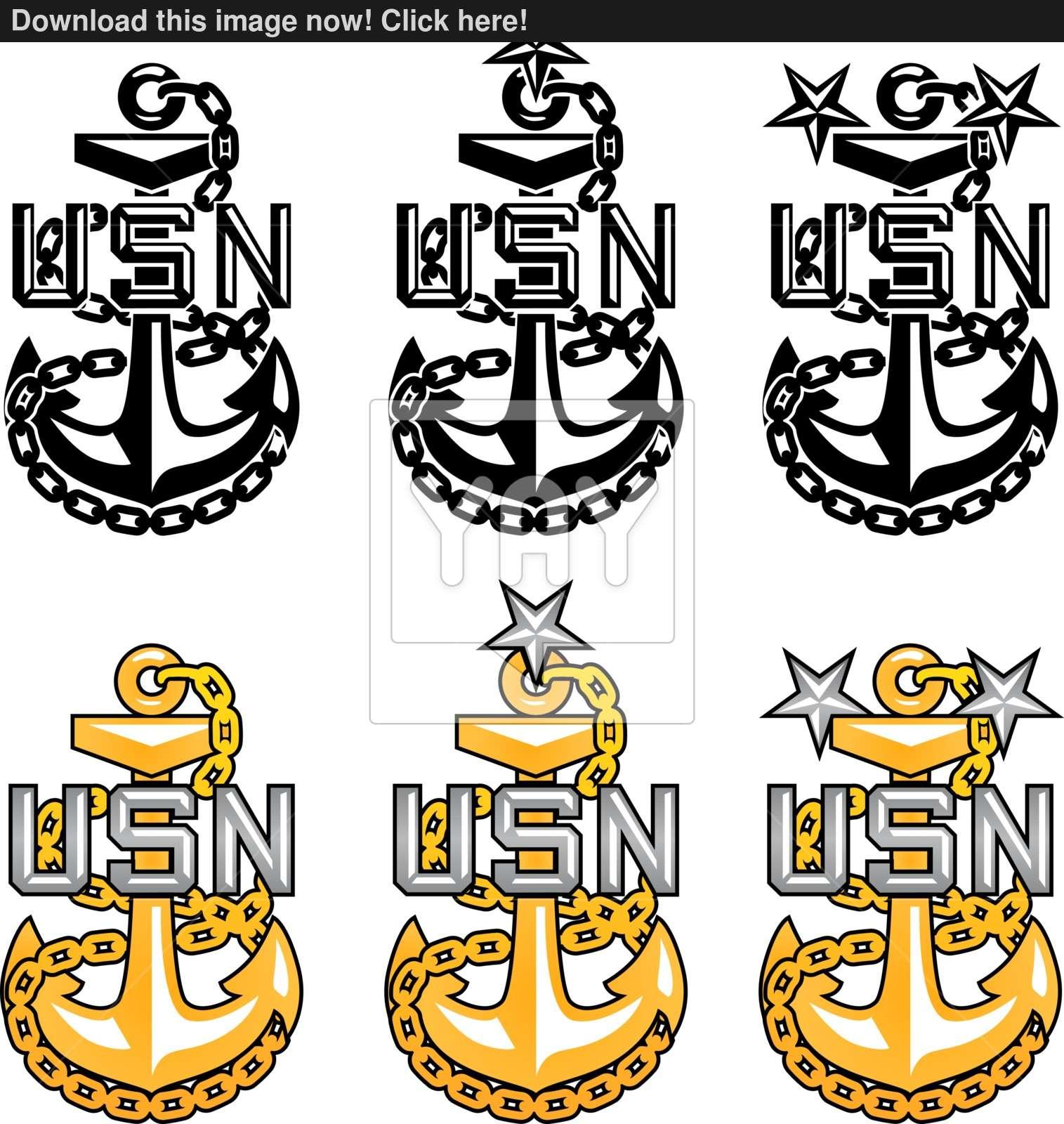 1515x1600 Us Navy Cpo Anchors Vector