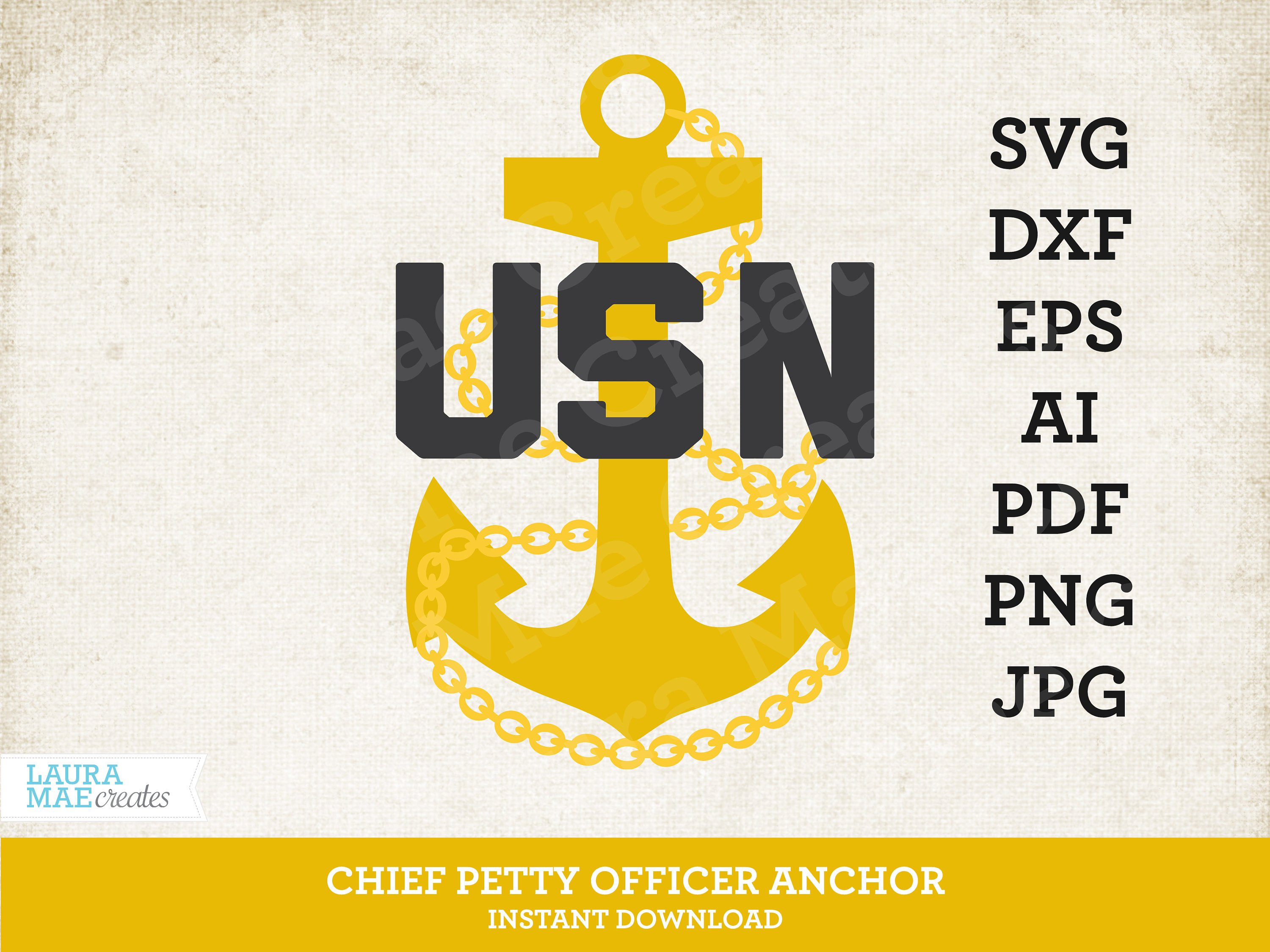 3000x2250 Us Navy Chief Petty Officer Anchor Vector Files Svg Dxf Etsy