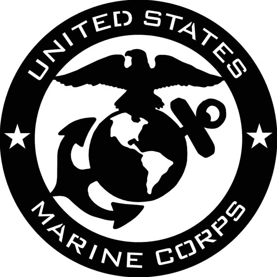 570x570 Us Navy Back Patch Black Amp White For Vest Jacket 10 Inch Marine