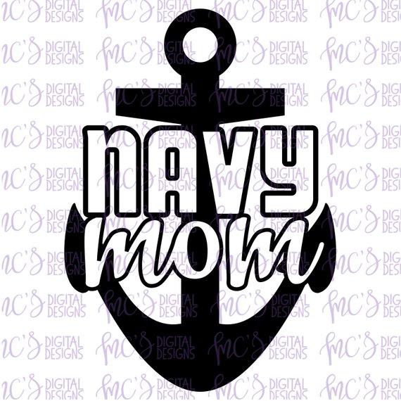570x570 Digital Download Navy Mom Proud Us Navy Mom Vector Instant Etsy