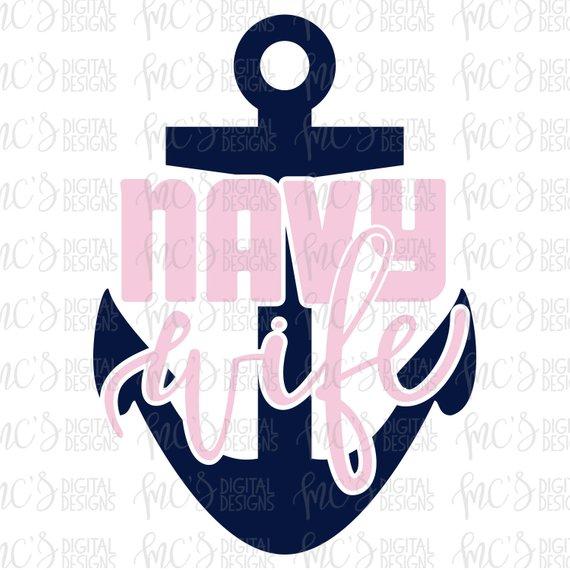 570x570 Digital Download Navy Wife Us Navy Vector Instant Download Etsy