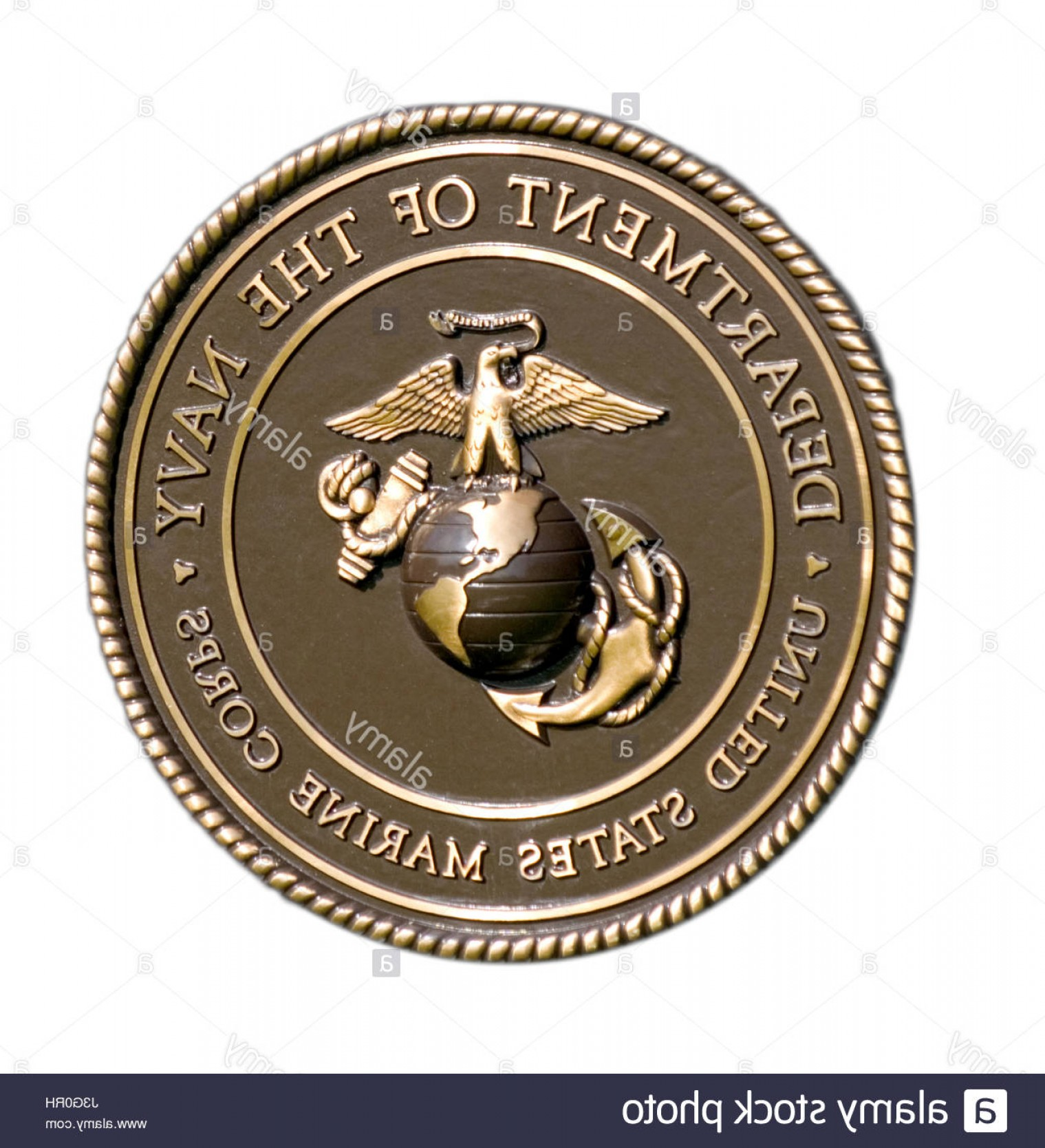 1519x1668 Stock Photo The Seal Of The United States Marine Corps Department
