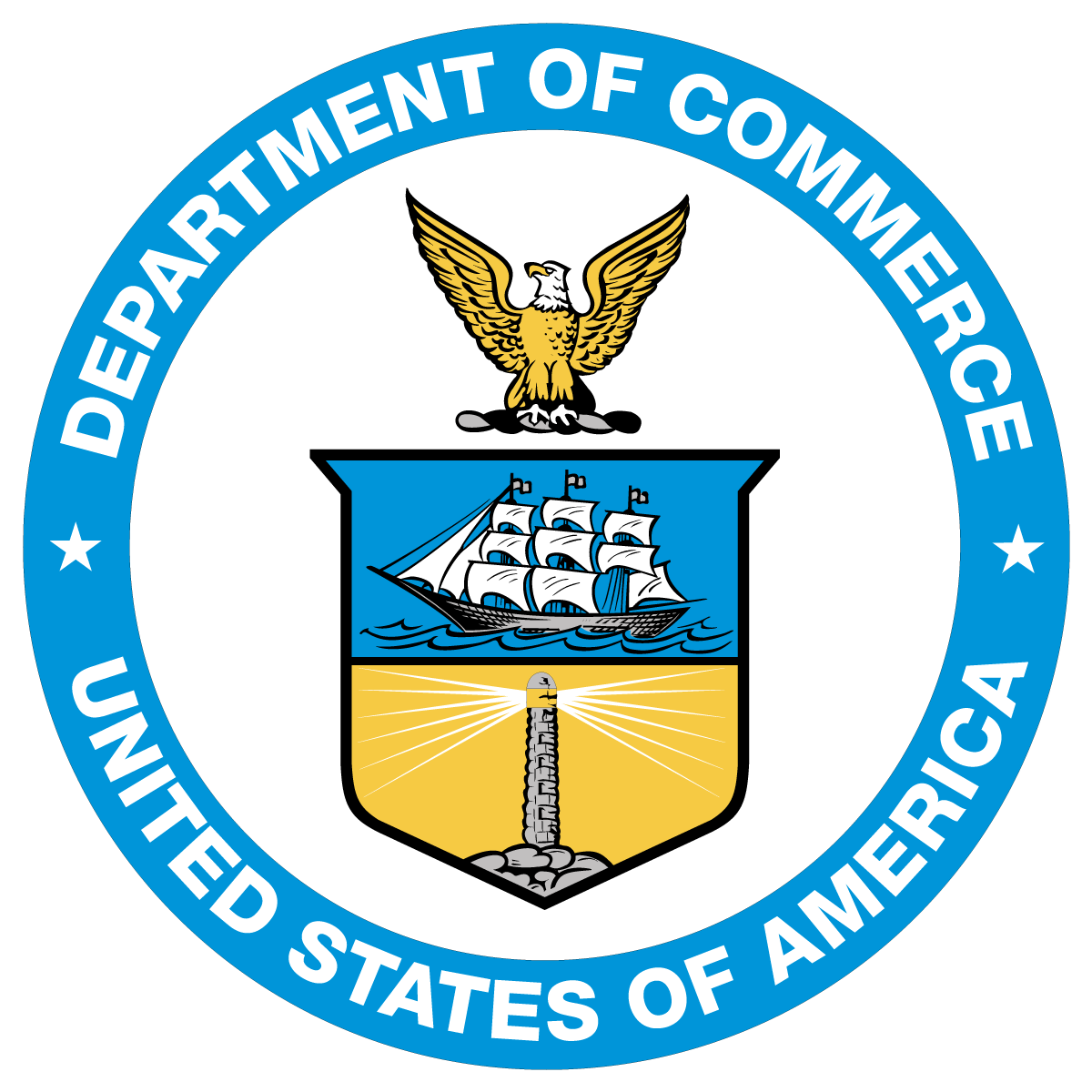 1200x1200 Us Department Of Commerce Seal Logo Seal Vector Free Vector