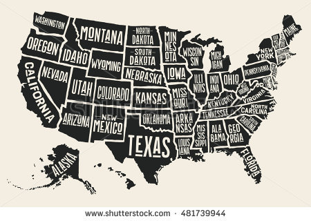 450x320 Us Map Vector Simple Decoration Simplified Map Of Us States Us Map