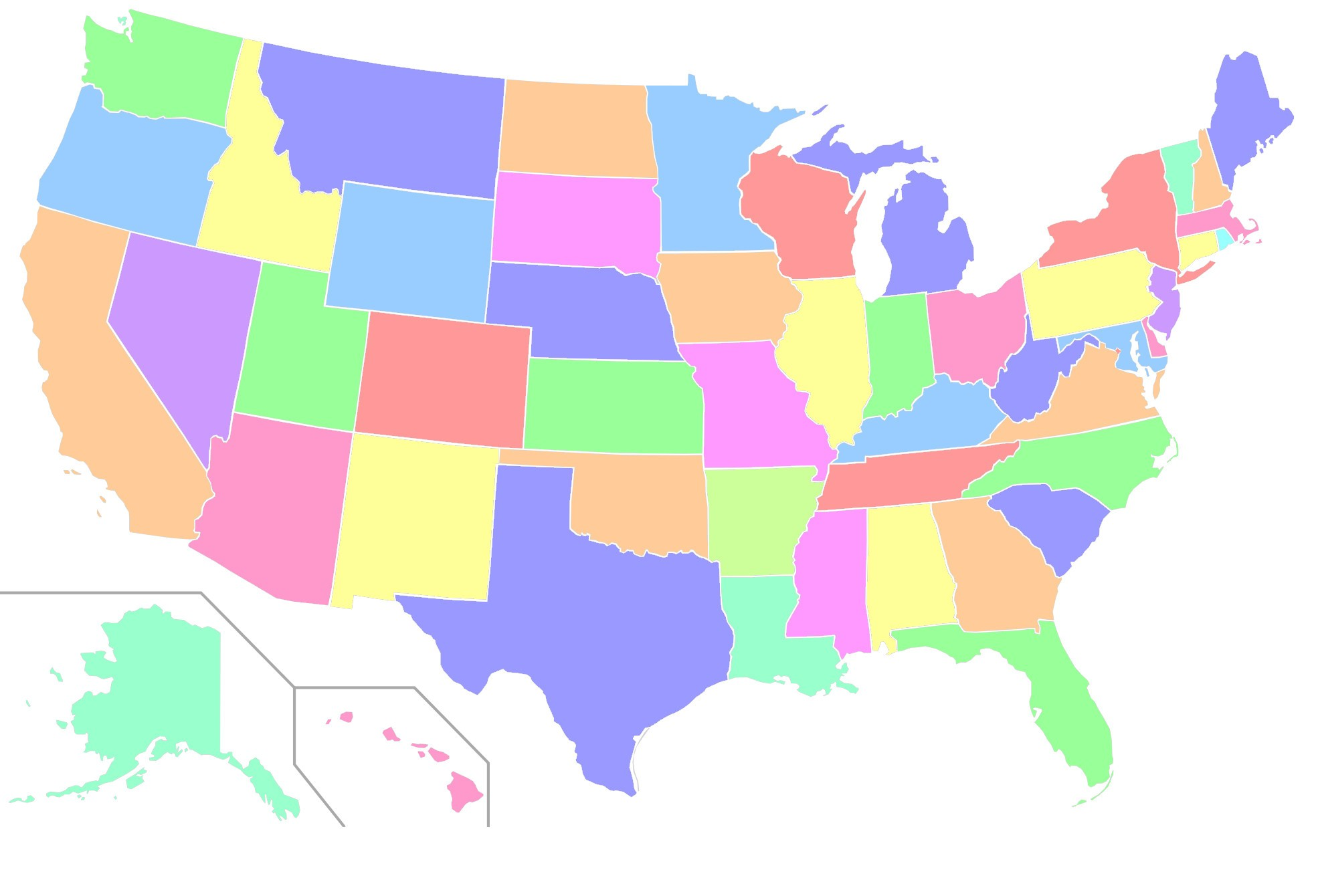 Us States Vector at GetDrawings.com | Free for personal use ...