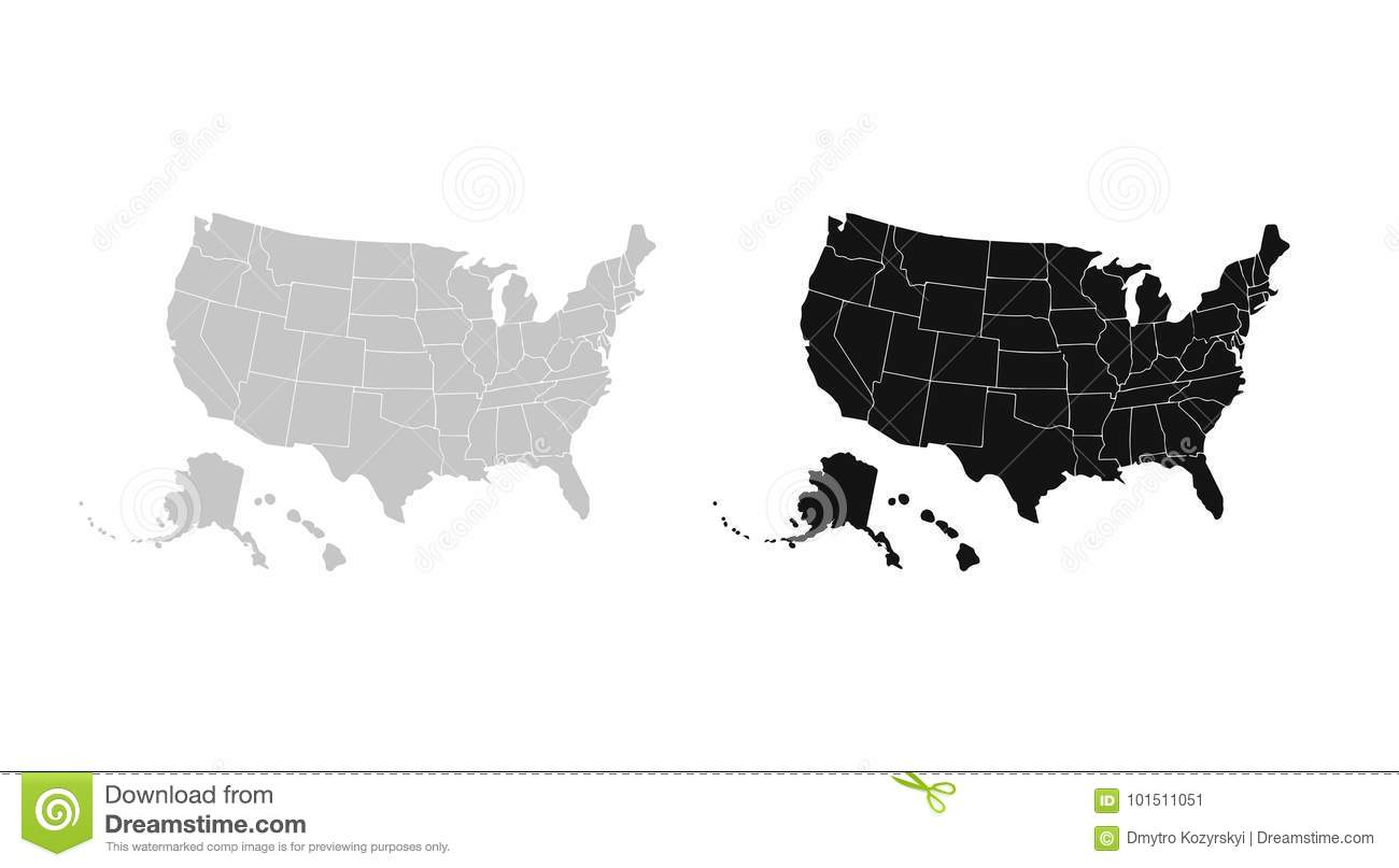 1300x807 Usa Map Vector Free Download Blank Similar Isolated White