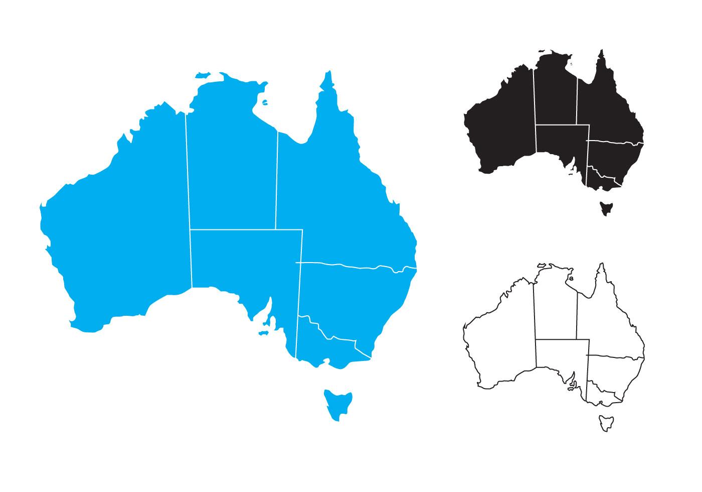 1400x980 Free State Map Of Australia