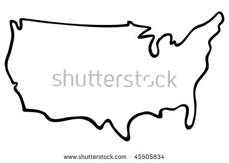 Usa Outline Vector