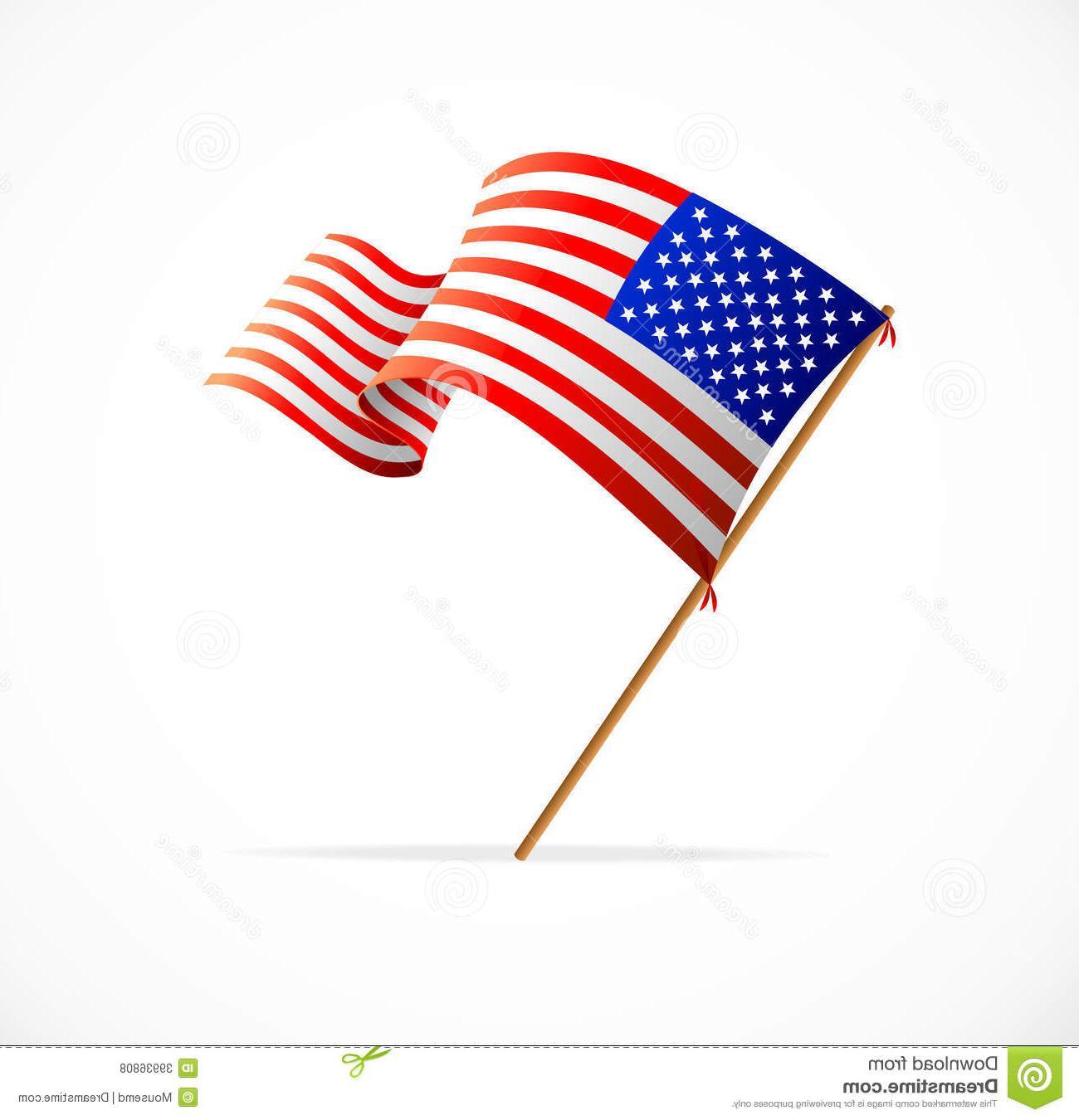 1300x1350 Hd Vector Waving American Flag Usa Drawing