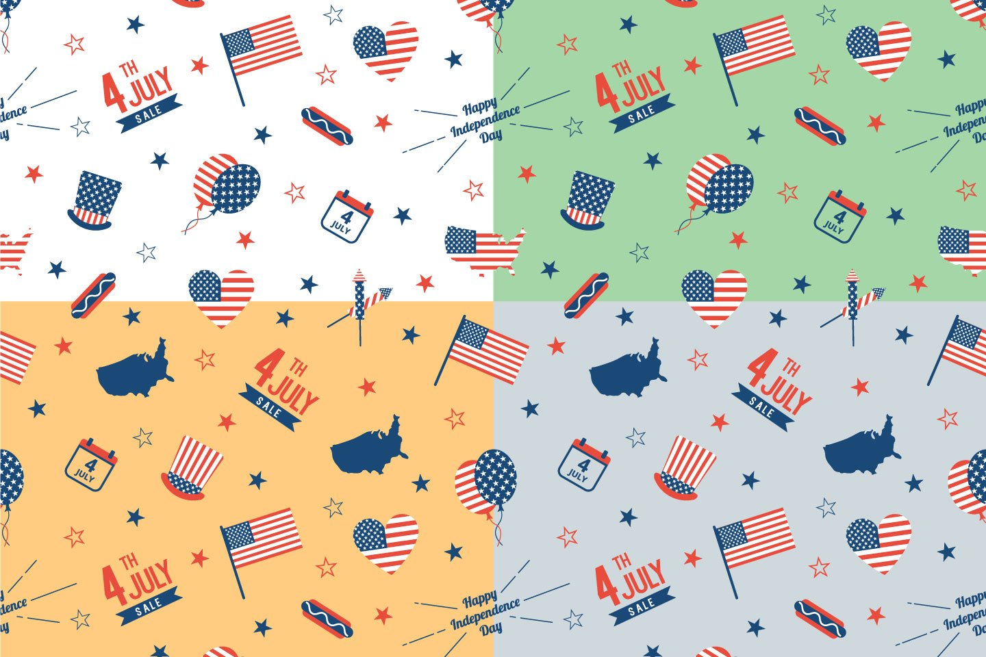1440x960 Independence Day Usa Vector Free Pattern