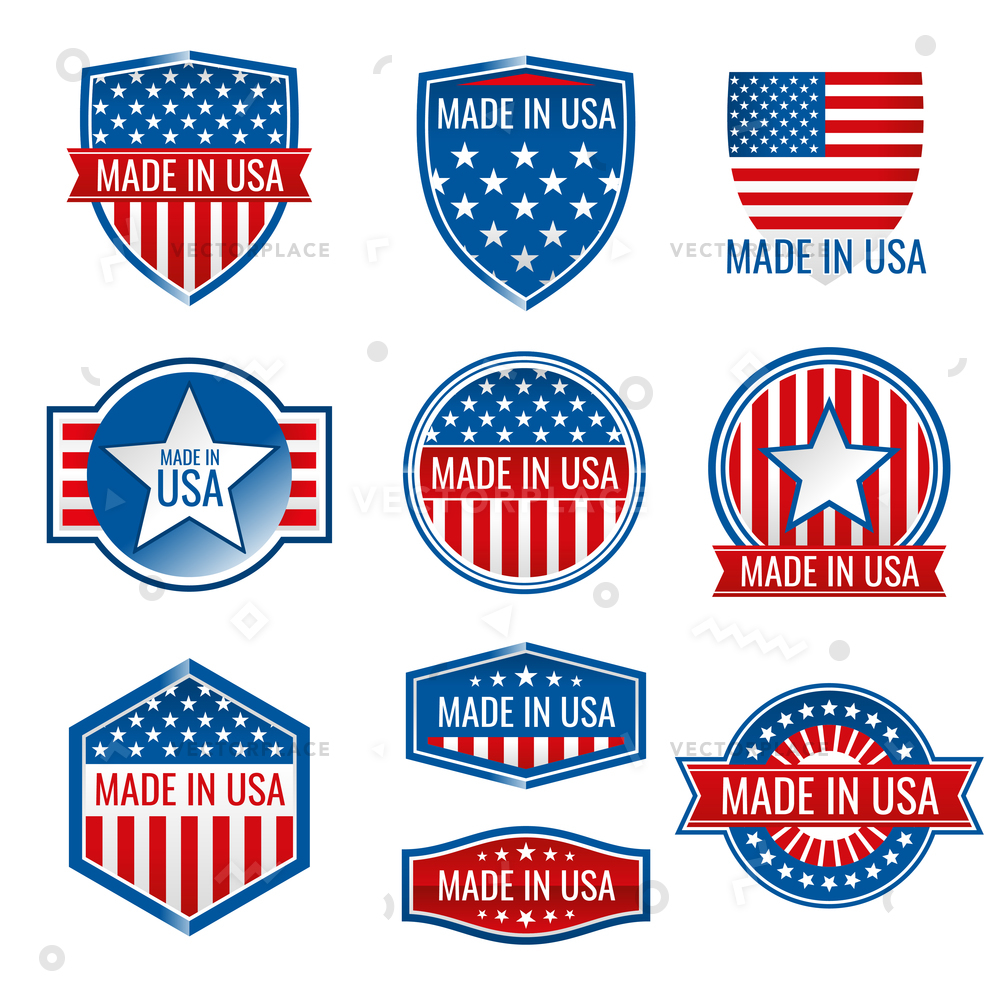 1000x1000 Made Usa Icons Icon American Product Vector Illustration 43956