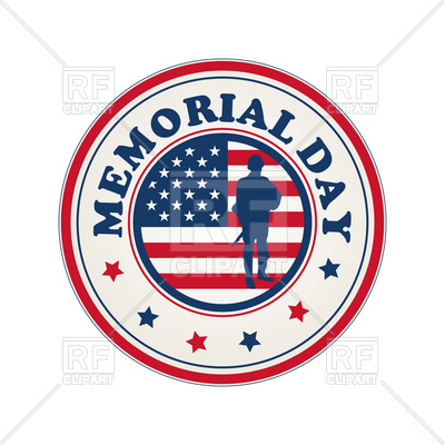 400x400 Memorial Day Stamp With Flag Of Usa Vector Image Vector Artwork
