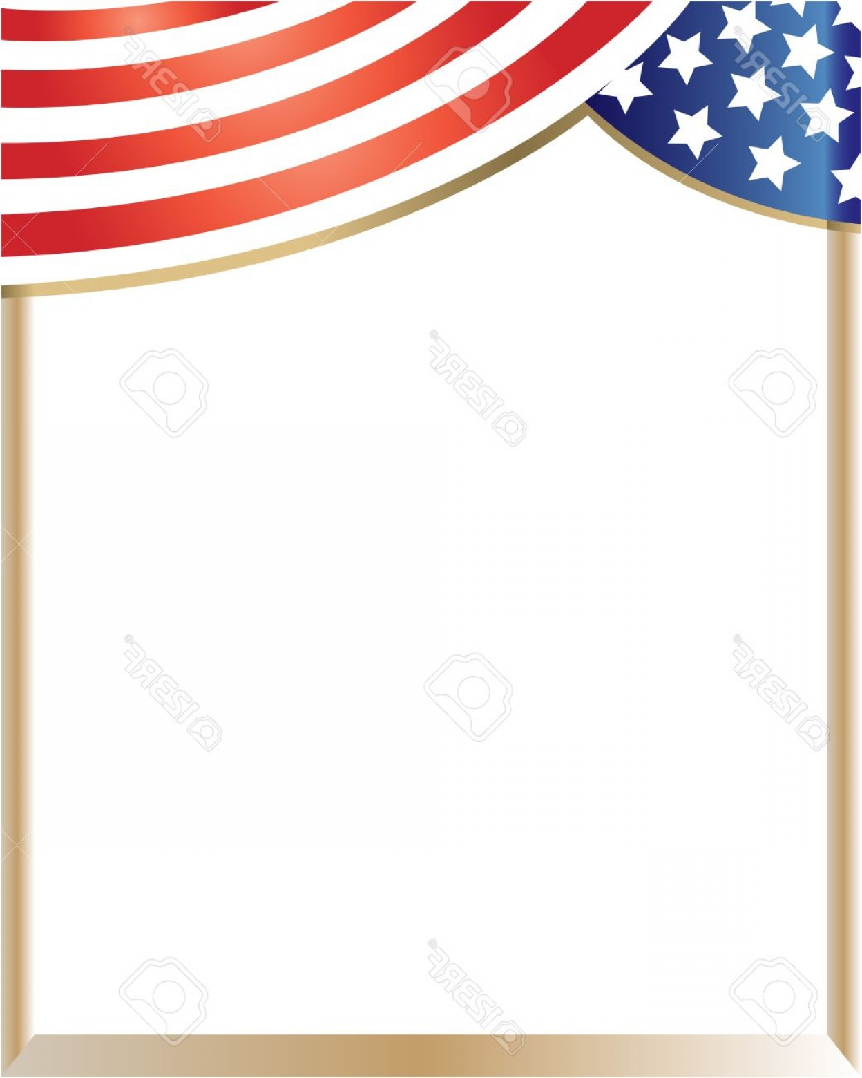 1248x1560 Photostock Vector Frame Wave With Usa Flag With Empty Space For
