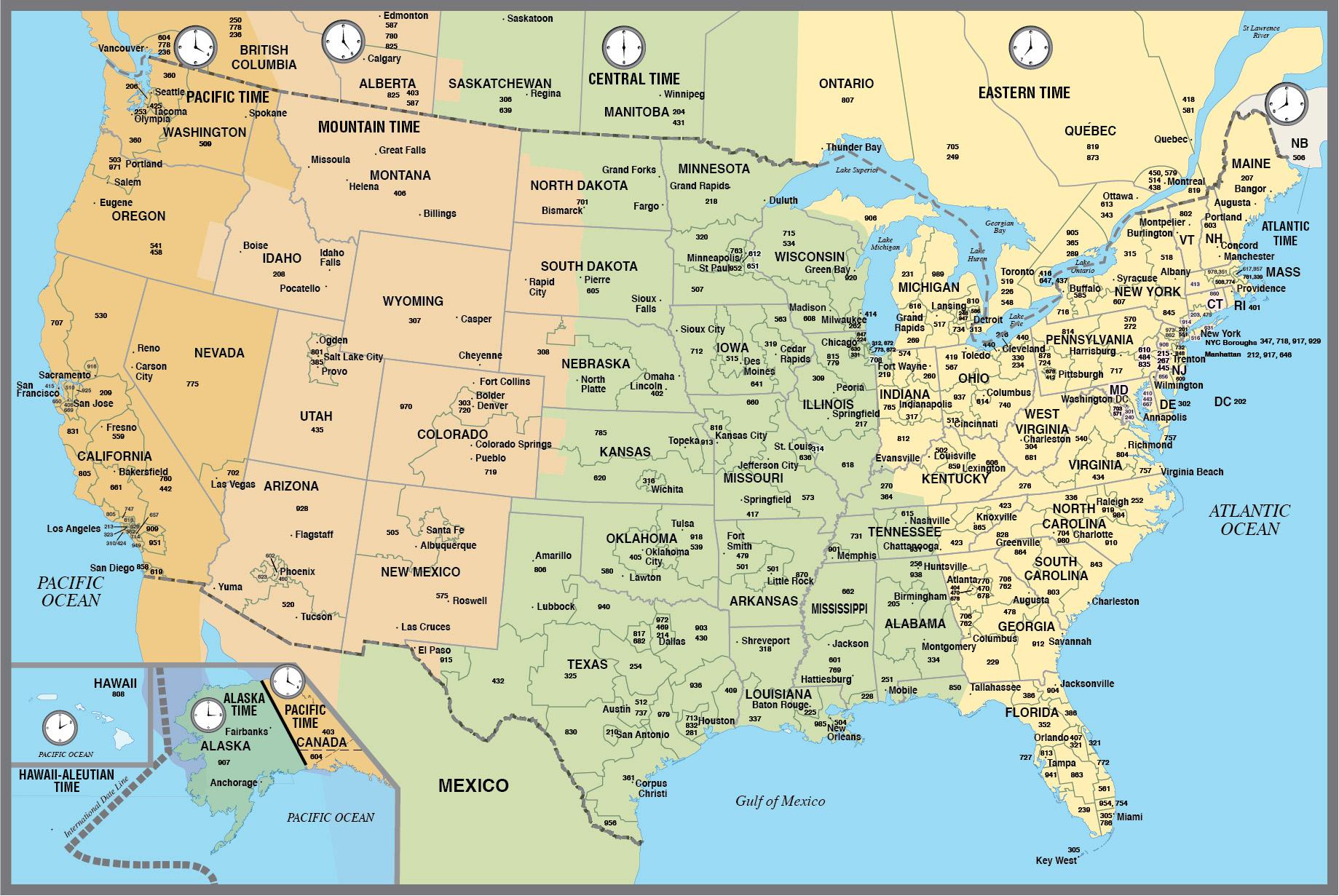 1839x1231 Usa Area Code Map Digital Vector Creative Force