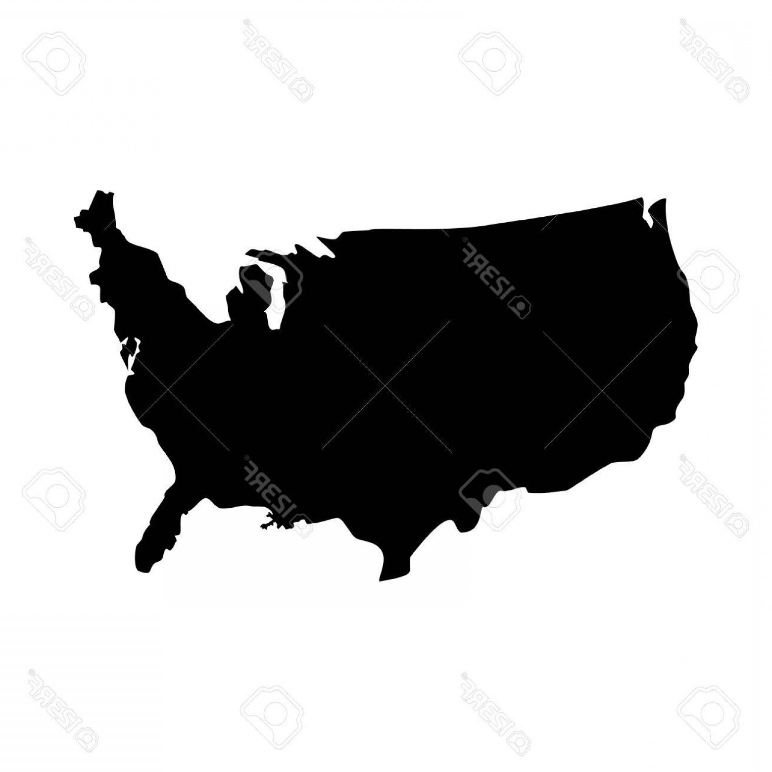 1560x1560 Usa Map Vector Black Shopatcloth