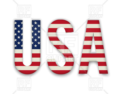 400x313 Word Usa With American United States Flag Vector Image Vector