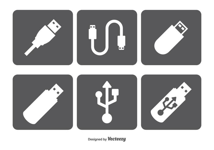 700x490 Usb Vector Icons Set