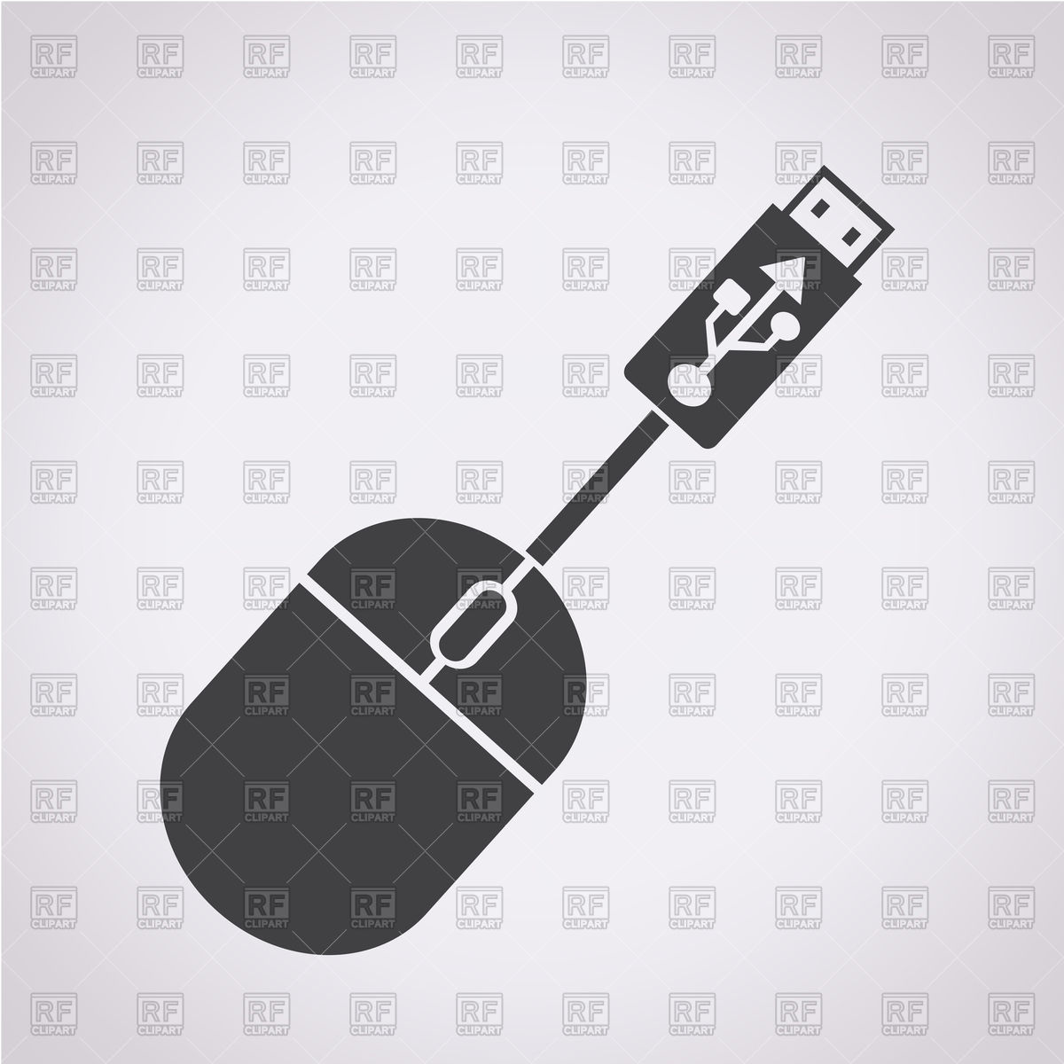 1200x1200 Usb Computer Mouse Icon Vector Image Vector Artwork Of