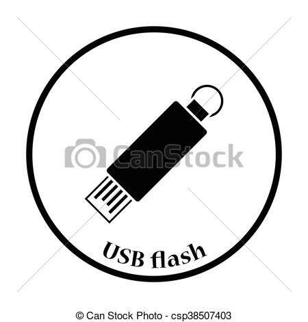 450x470 Usb Flash Icon Vector Illustration. Usb Flash Icon. Flat Color