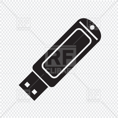 400x400 Usb Flash Drive Icon Vector Image Vector Artwork Of Signs
