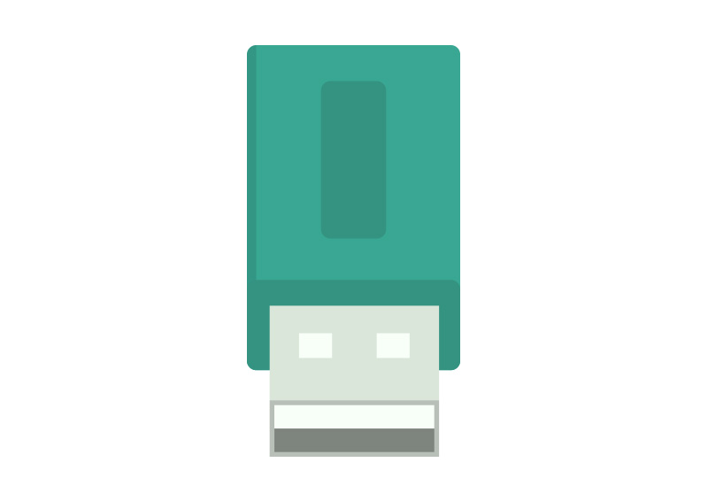 800x566 Usb Flash Drive Flat Vector Icon