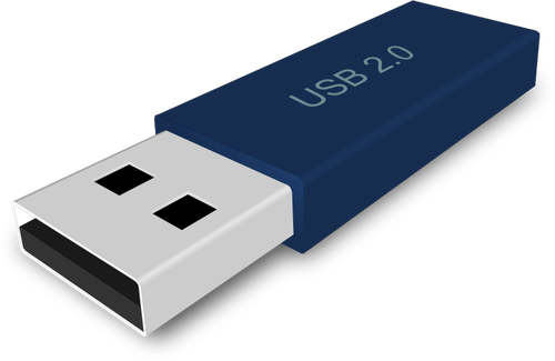 500x325 Usb Flash Drive In 3d Perspective Vector Image Public Domain Vectors