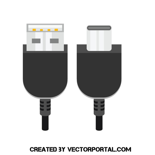 660x660 Usb Cable Vector Graphics