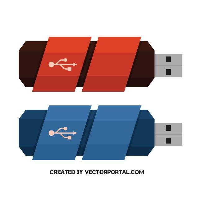 660x660 Usb Flash Drives Vector Image Technology Vector Illustrations