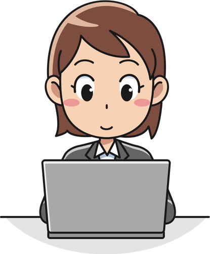 415x500 Female Computer User Vector Icon Public Domain Vectors