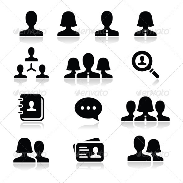 590x590 People User Vector Icons Set By Redkoala Graphicriver