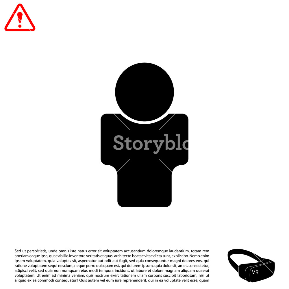 1000x1000 User Icon. Vector Illustration Royalty Free Stock Image