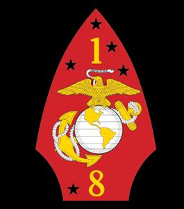 265x300 1st Battalion 8th Marine Regiment Usmc Logo Vector (.eps) Free