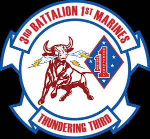 300x277 3rd Battalion 1st Marine Regiment Usmc Logo Vector (.eps) Free